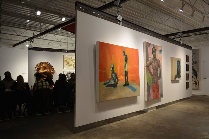 photos by Chris Andraka of Maggie's exhibition preview dinner and show at Welmont Gallery, closing reception is 7-10pm F...