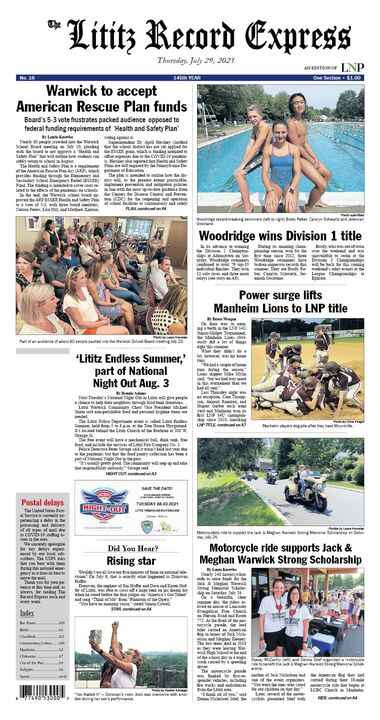 The new Lititz Record Express is now printing.