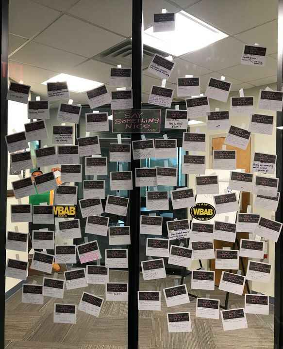 """Last week we challenged our staff to """"say something nice"""" about their co-workers in celebration of Employee Wellness Wee..."""