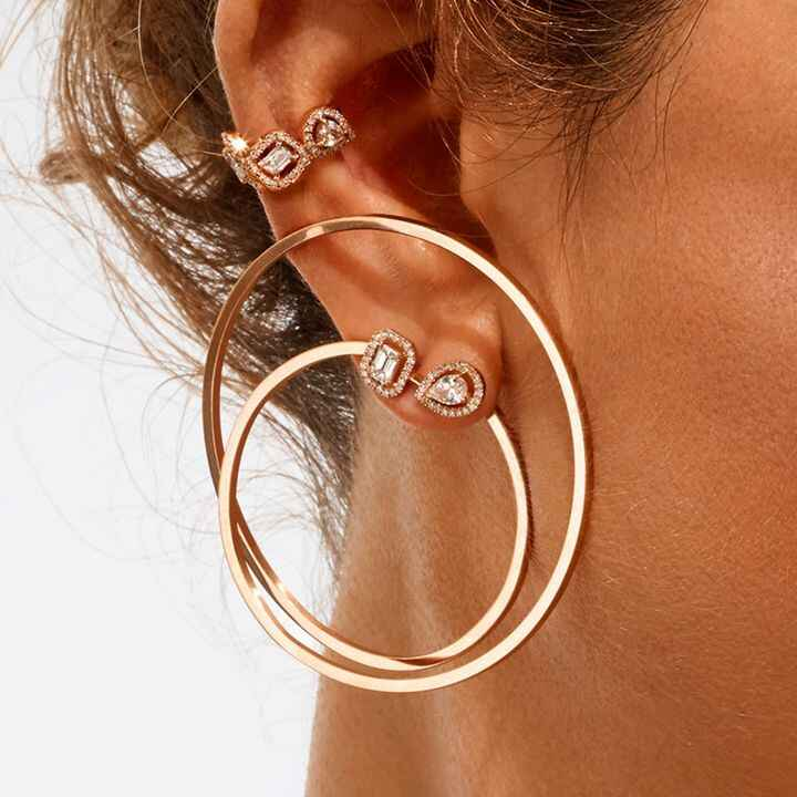The well curated ear is a trend that's here to stay. We especially love this hoops & posts look from Messika.