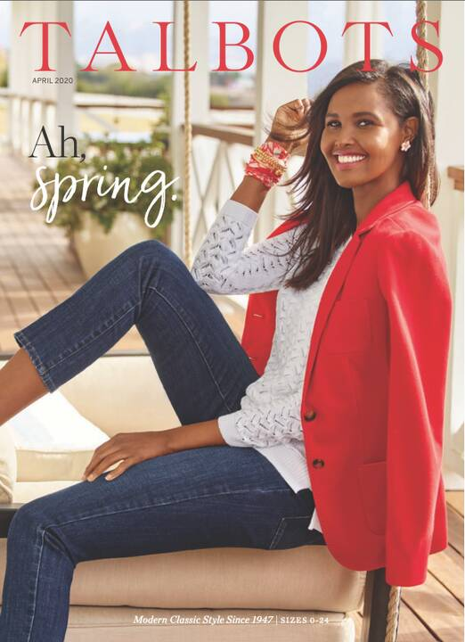 TALBOTS April 2020 campaign shot by Peggy Sirota Inc. and proudly produced by Bauie Productions.Styling by I N G E  FONT...